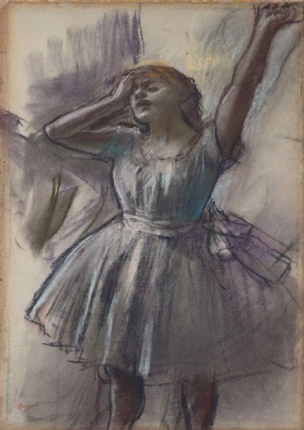 Degas, Edgar: Dancer Stretching. Fine Art Print/Poster. Sizes: A4/A3/A2/A1 (003742)